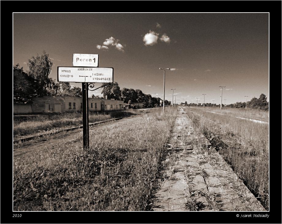 Opuszczony peron (Kcynia)