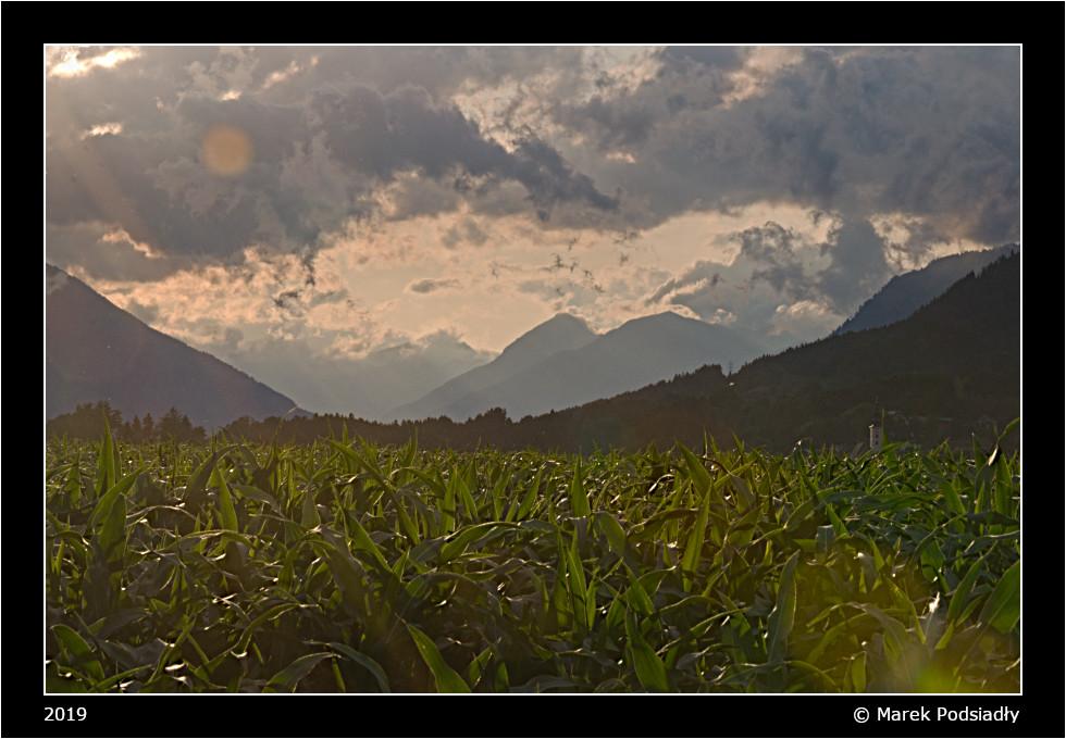 Zachód słońca w Alpach